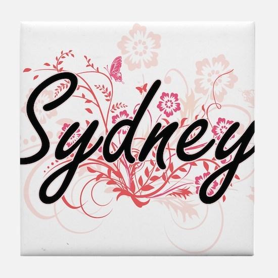 Sydney Artistic Name Design with Flow Tile Coaster