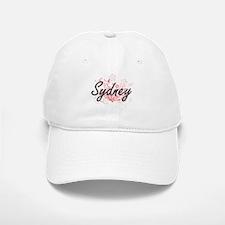 Sydney Artistic Name Design with Flowers Baseball Baseball Cap