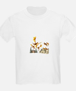 Dragons attacking castle T-Shirt