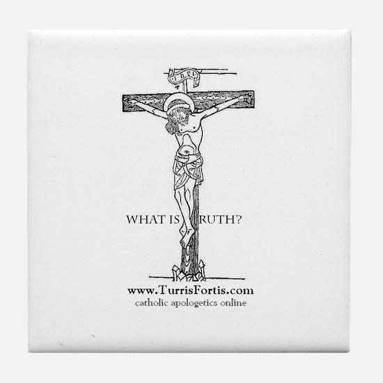 Medieval Crucifix Tile Coaster