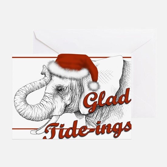 glad tidings Greeting Cards