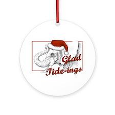 glad tidings Round Ornament