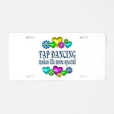 Tap Dancing More Special Aluminum License Plate