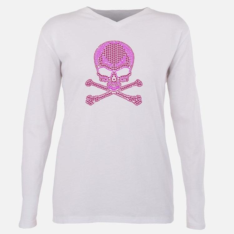 Cute Bling Plus Size Long Sleeve Tee