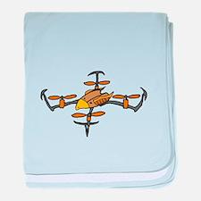 Drone Eagle Art baby blanket