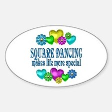 Square Dancing More Special Sticker (Oval)