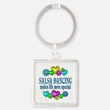Salsa Dancing More Special Square Keychain