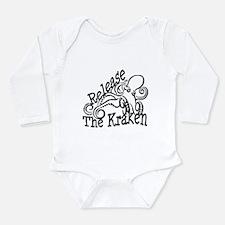 Cute Kraken Long Sleeve Infant Bodysuit