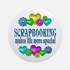 Scrapbooking More Special Round Ornament