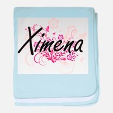 Ximena Artistic Name Design with Flow baby blanket
