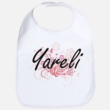 Yareli Artistic Name Design with Flowers Bib