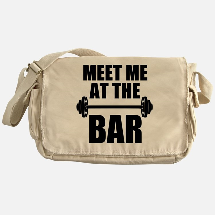 Cute Funny gym Messenger Bag