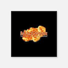 "MacGyver Logo Square Sticker 3"" x 3"""