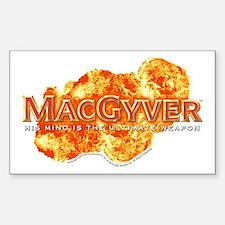 MacGyver Logo Sticker (Rectangle)