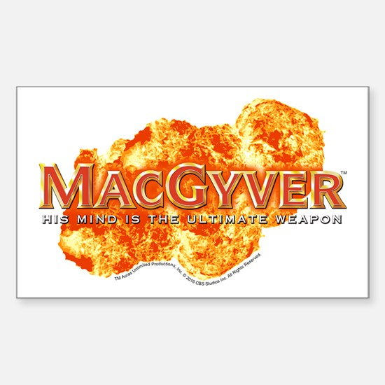MacGyver Logo Sticker (Rectangle)