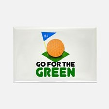 """""""Go for the Green"""" Rectangle Magnet"""