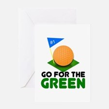 """Go for the Green"" Greeting Card"