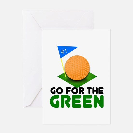 """""""Go for the Green"""" Greeting Card"""