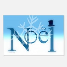Hats Off Noel Snow Postcards (package Of 8)