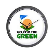 """""""Go for the Green"""" Wall Clock"""
