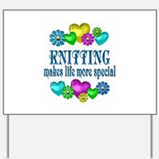Knitting More Special Yard Sign
