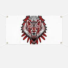 Wolf Tattoo Style Haida Art Banner
