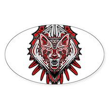 Wolf Tattoo Style Haida Art Decal