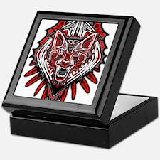Wolf Tattoo Style Haida Art Keepsake Box