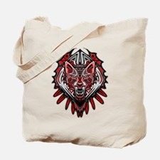 Wolf Tattoo Style Haida Art Tote Bag