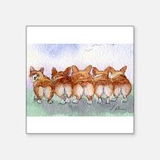 "Cute Welsh corgi on welsh pony Square Sticker 3"" x 3"""