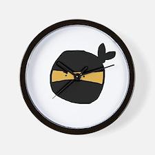 Cute Ninjas face Wall Clock