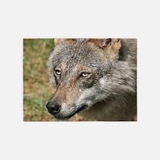 Wolf019 5'x7'Area Rug