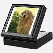 golden retriever n Keepsake Box
