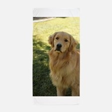 golden retriever n Beach Towel