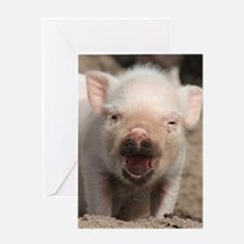 Piglet 001 Greeting Cards