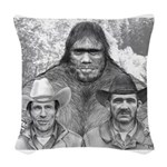 Roger Bob and Patty Woven Throw Pillow