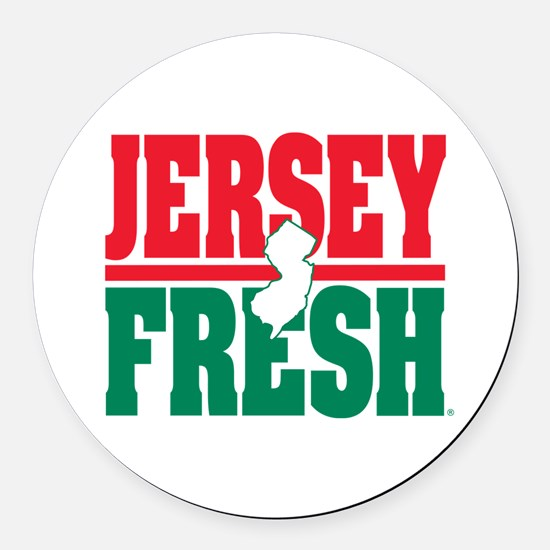 Jersey Fresh Round Car Magnet