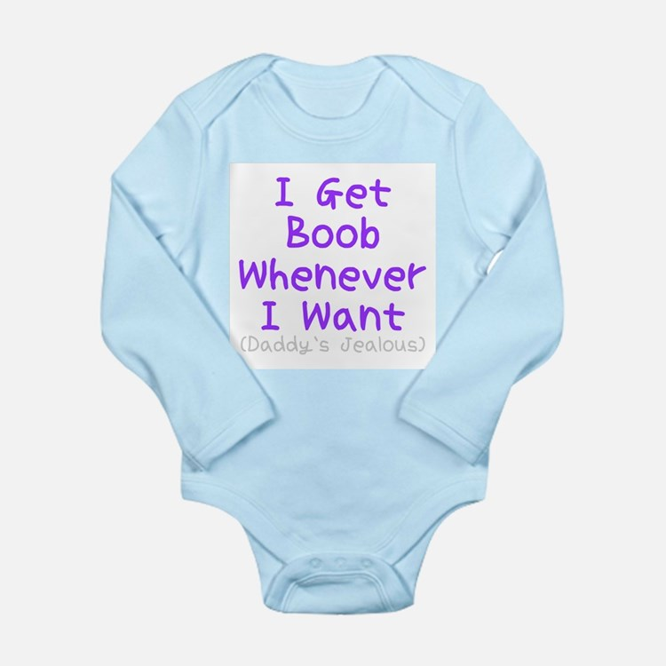 Cute Breast fed Long Sleeve Infant Bodysuit