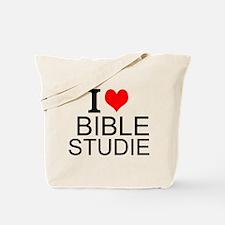 I Love Bible Studies Tote Bag