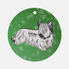 Skye Terrier (Cream) Round Ornament
