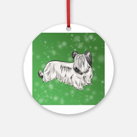 Skye Terrier (Cream) Round Ornament