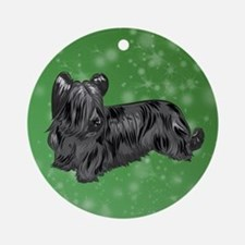 Skye Terrier (Black) Round Ornament