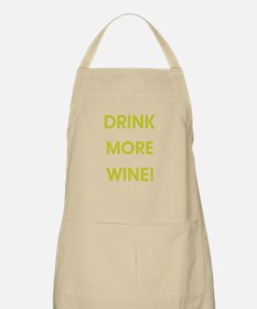 DRINK MORE WINE! Apron