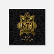"AHS Hotel Enjoy Your Stay Square Sticker 3"" x 3"""