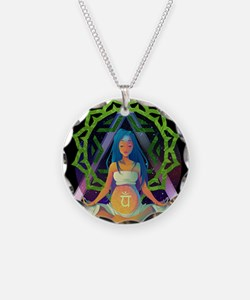Our Shared Enlightenment Necklace Circle Charm
