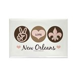 Peace Love New Orleans Rectangle Magnet (100 pack)