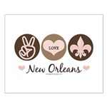 Peace Love New Orleans Small Poster