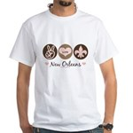 Peace Love New Orleans White T-Shirt