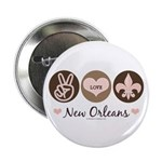 Peace Love New Orleans Button