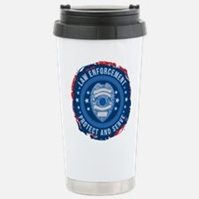 Law Enforcement Seal of Stainless Steel Travel Mug